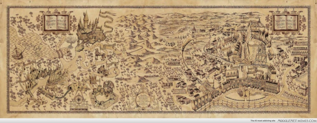 High Resolution Wizarding World Of Harry Potter Map | Celebrating - Harry Potter Marauders Map Printable