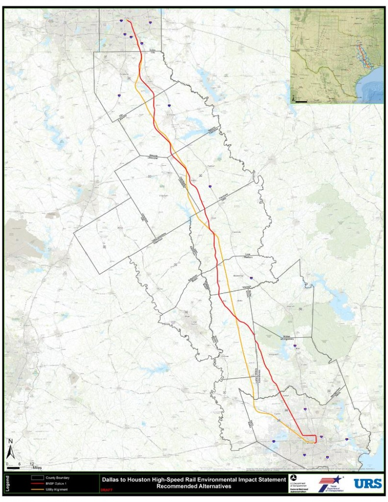 """High Speed Rail Project Moving Forward With New Focus On """"utility - High Speed Rail Texas Route Map"""
