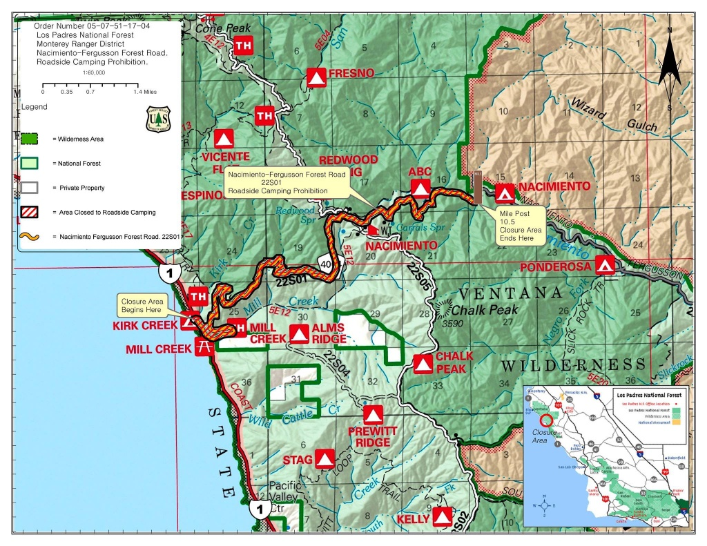 Highway 1 Conditions In Big Sur, California - California Highway 1 Map Pdf