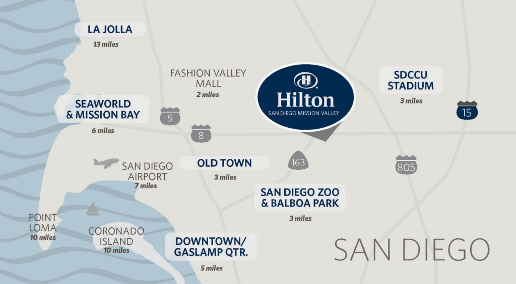 Hilton Mission Valley San Diego Hotel | Hotels In Mission Valley San - Map Of Hilton Hotels In California
