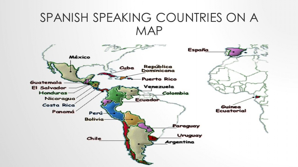 Hispanic Countries Map | Country Map - Printable Map Of Spanish Speaking Countries
