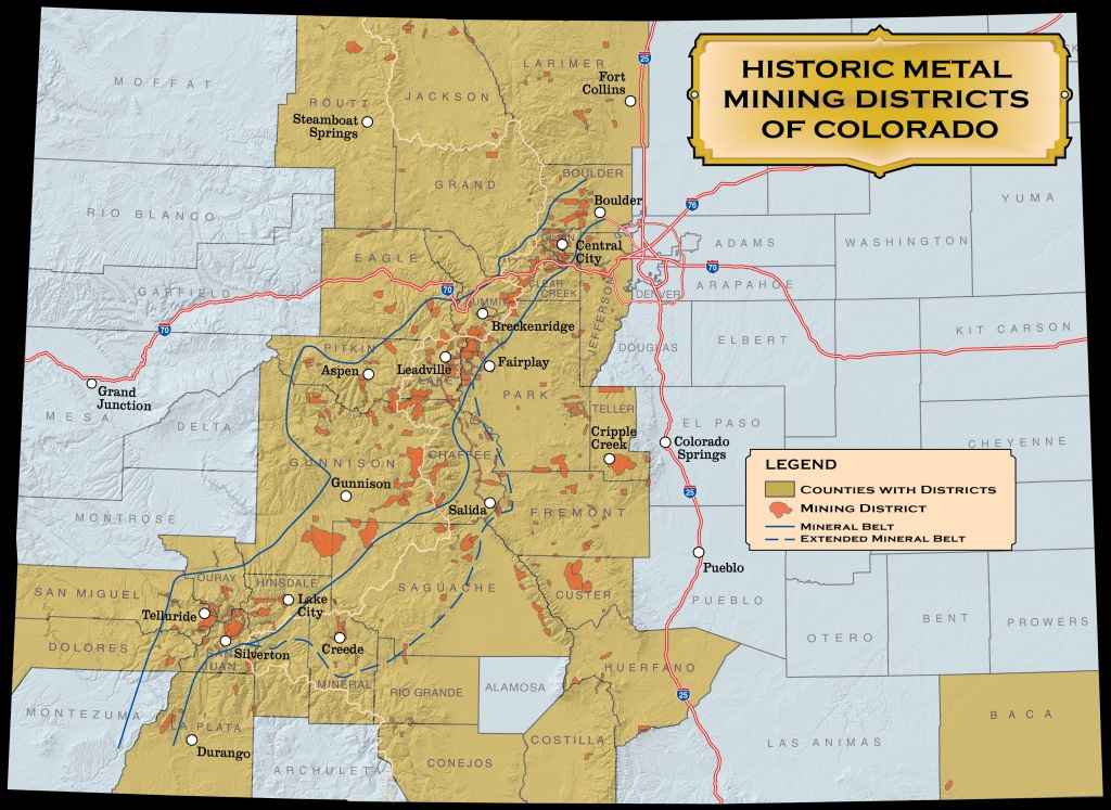 Historic Mining Districts | Colorado Geological Survey - California Gold Claims Map