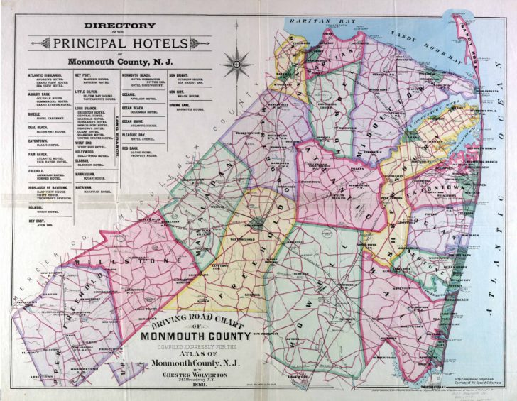 Printable Map Of Monmouth County Nj