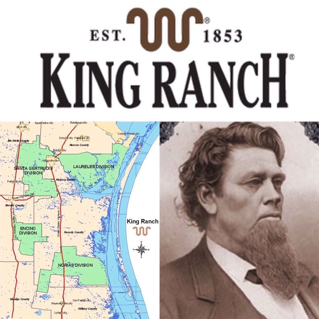 """Historictexasranches On Twitter: """"largest Ranch In Texas (Over 825K - King Ranch Texas Map"""