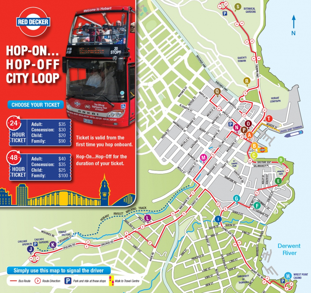 Hobart Tasmania Australia Cruise Port Of Call - Printable Street Map Of Port Macquarie