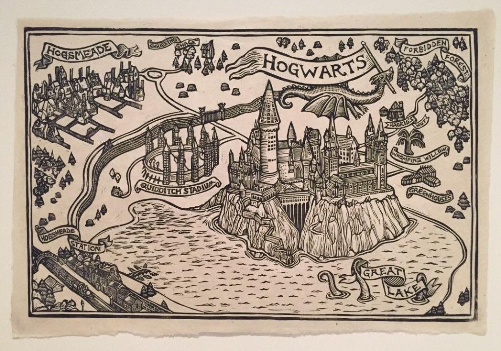 Hogwarts Map Block Print | Etsy - Hogwarts Map Printable