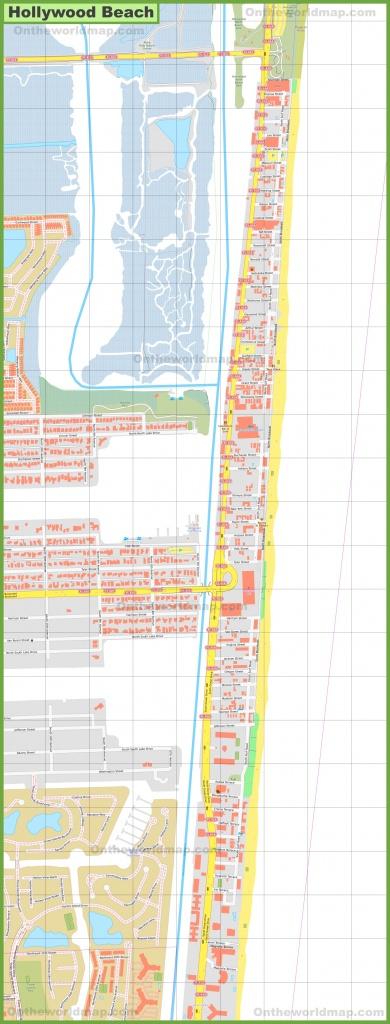 Hollywood Beach Map - Hollywood Beach Florida Map