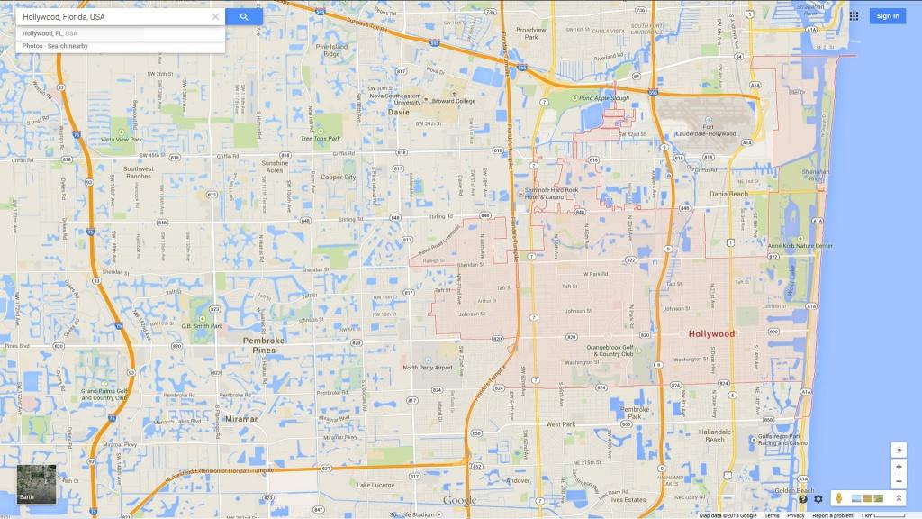 Hollywood, Florida Map - Google Maps Hollywood Florida