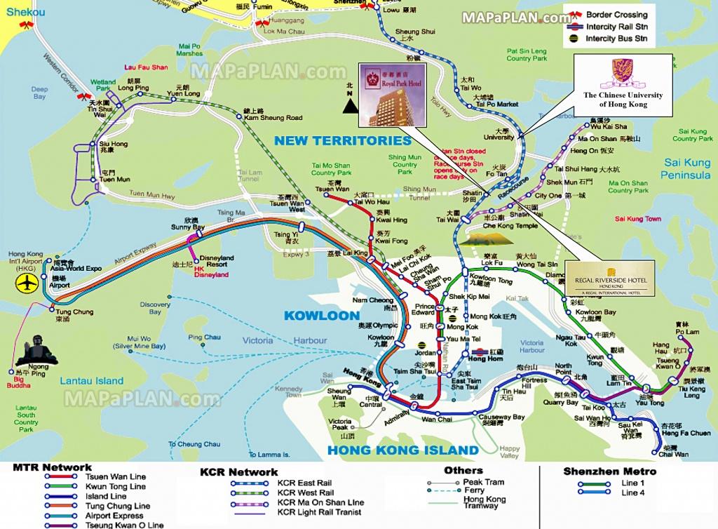 Hong Kong Maps - Top Tourist Attractions - Free, Printable City - Printable Map Of Hong Kong