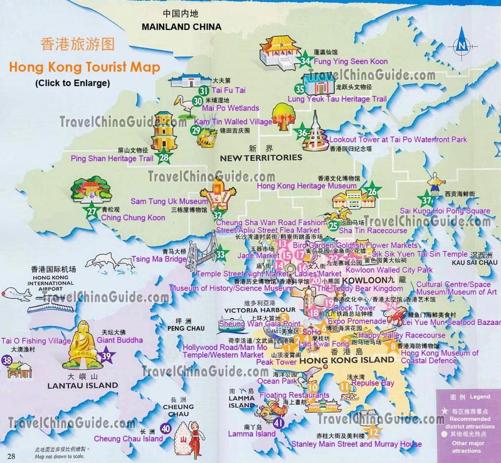 Hong Kong Maps: Tourist Attractions, Streets, Subway - Hong Kong Tourist Map Printable