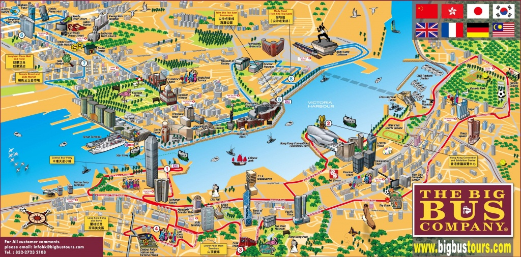 Hong Kong Tourist Map - Printable Map Of Hong Kong