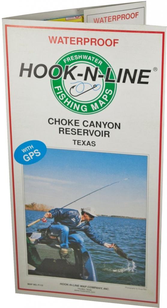 Hook-N-Line Map F112 Choke Canyon Fishing Map (With Gps) - Austinkayak - Texas Kayak Fishing Maps