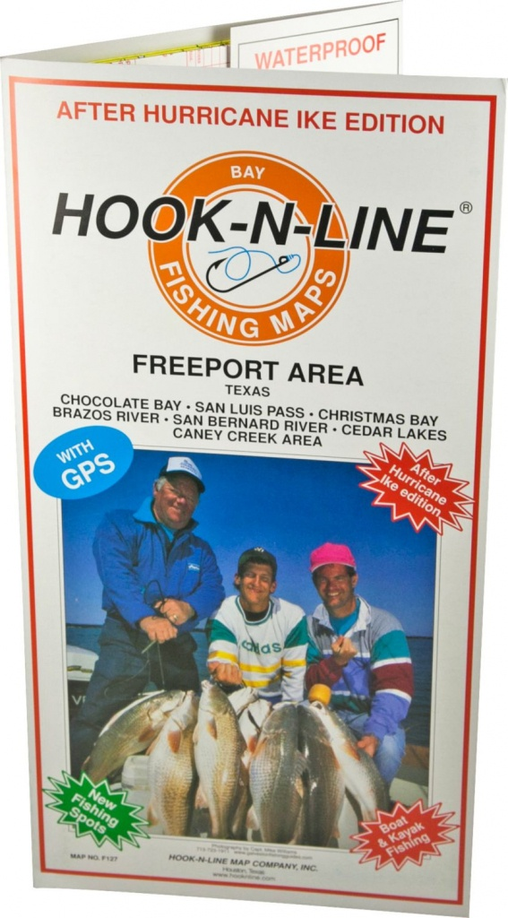 Hook-N-Line Map F127 Freeport Area Fishing Map (With Gps) - Austinkayak - Texas Saltwater Fishing Maps