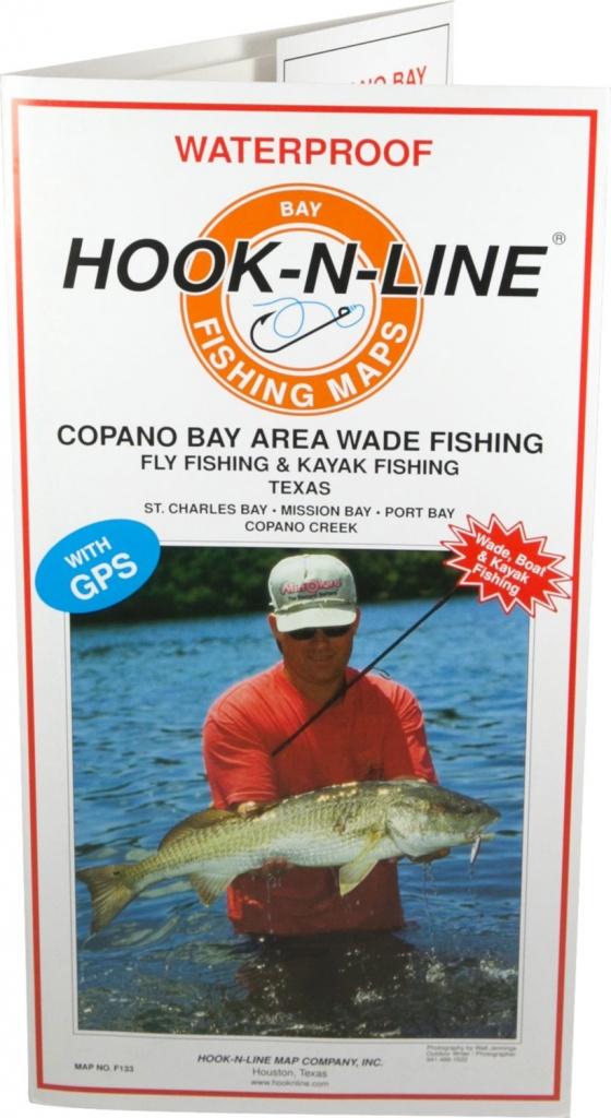 Hook-N-Line Map F133 Copano Bay Wade Fishing Map (With Gps - Texas Kayak Fishing Maps
