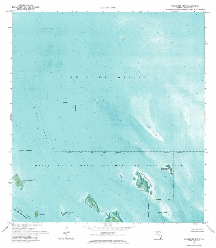 Horseshoe Keys Topographic Map, Fl - Usgs Topo Quad 24081G3 - Florida Keys Topographic Map