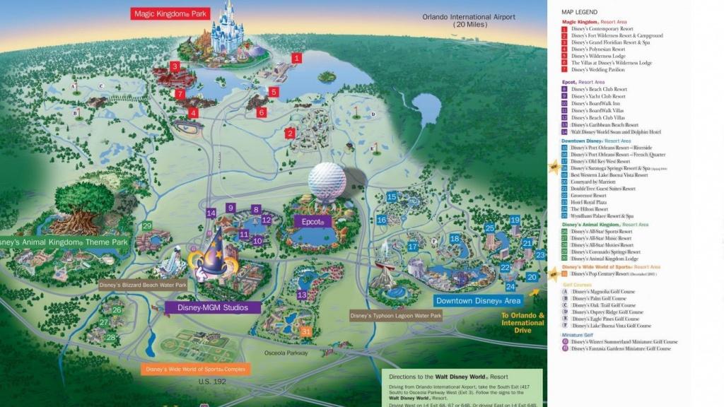 Hotel Resort Disney World Resorts Florida Residents In Walt Monorail - Florida Map Hotels