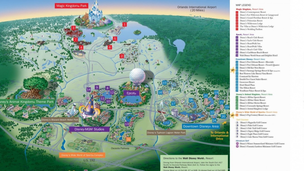 Hotel Resort Disney World Resorts Florida Residents In Walt Monorail - Florida Resorts Map