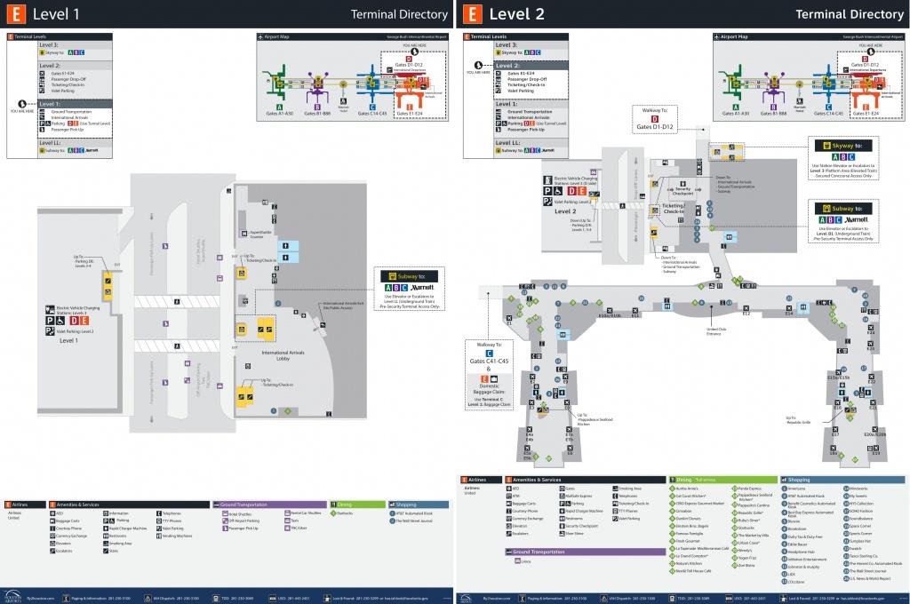 Houston Airport Terminal E Map - Houston Texas Map Airports