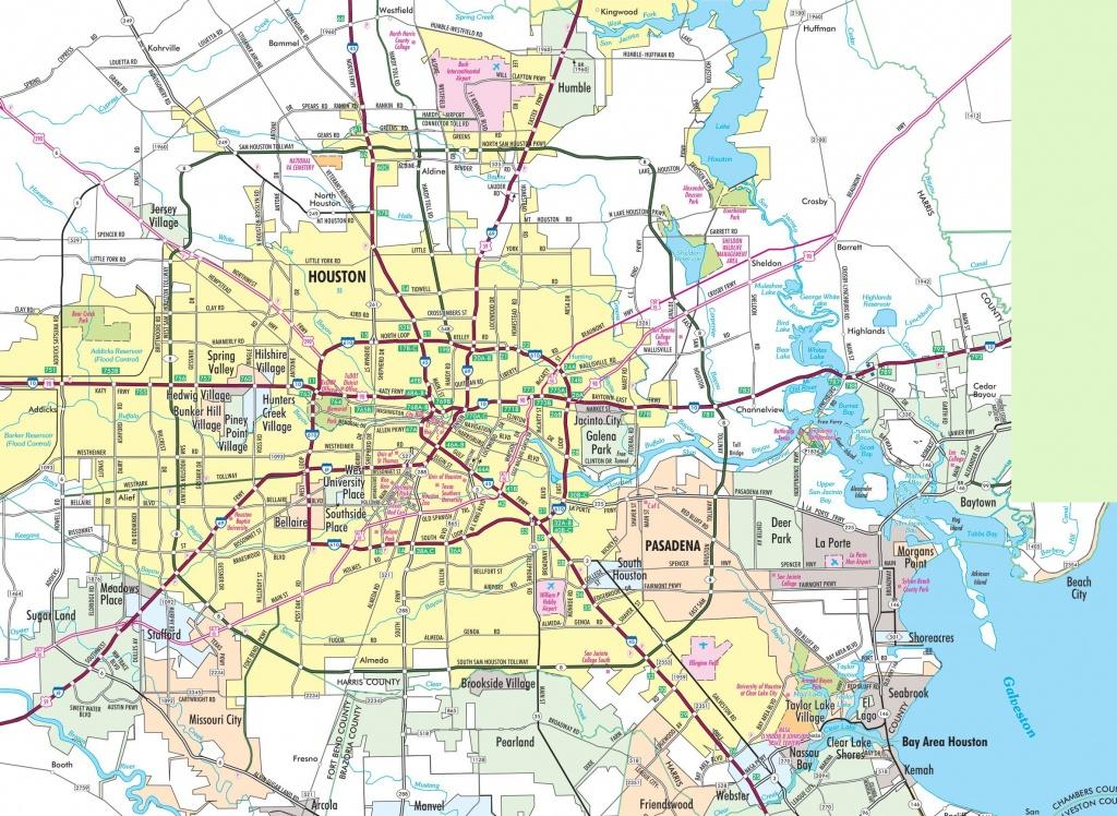 Houston Area Road Map - Show Me Houston Texas On The Map