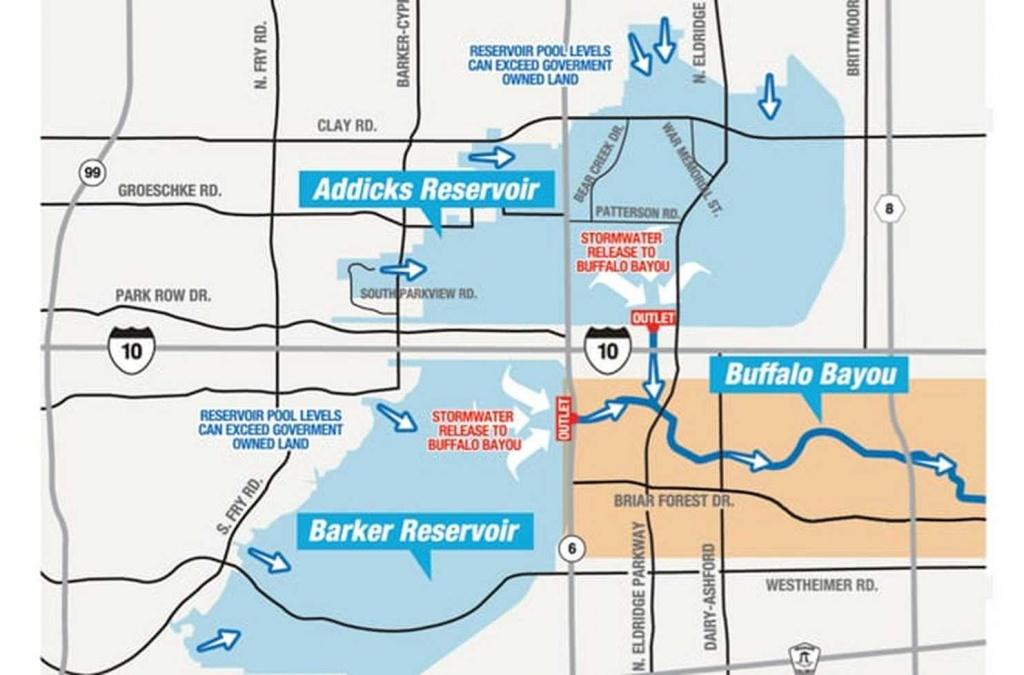 Houston Dam & Reservoir Flood Lawyers | Hurricane Harvey Damage Lawyer - Barker Texas Map