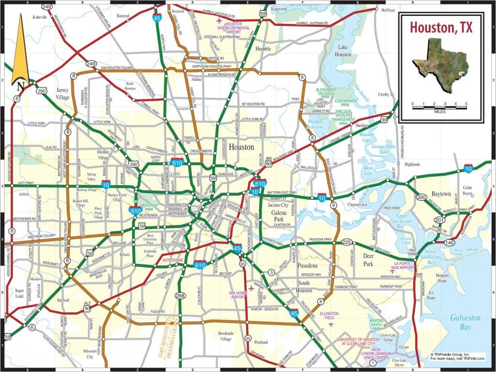 Houston Plan De La Ville - Ville De La Carte De Houston (Texas - Usa) - Houston Texas Map