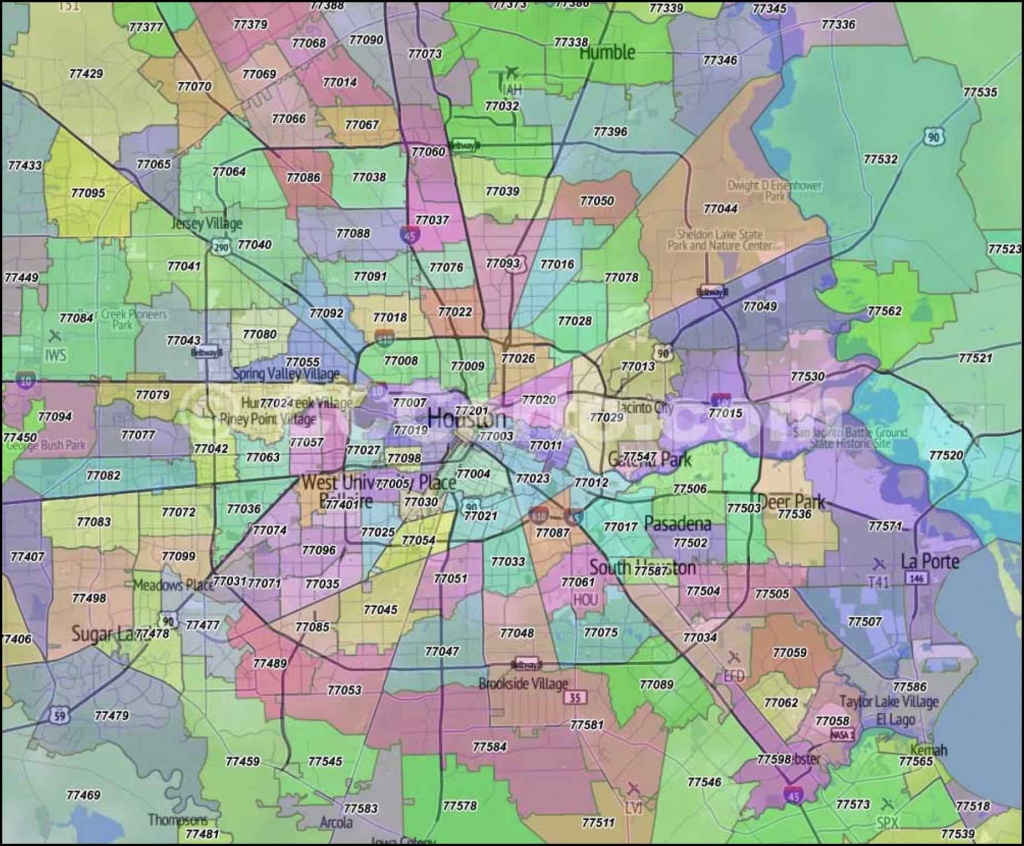 Houston Zip Code Map   Houston Zip Code Map In 2019   Zip Code Map - Houston Zip Code Map Printable