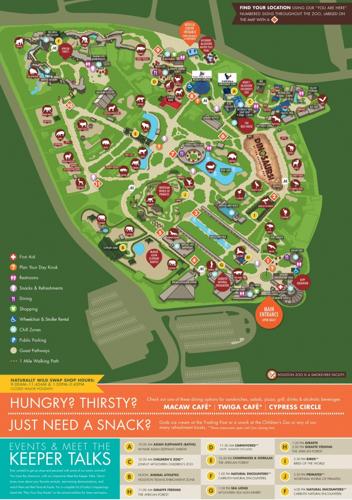 Houston Zoo Map - Central Florida Zoo Map