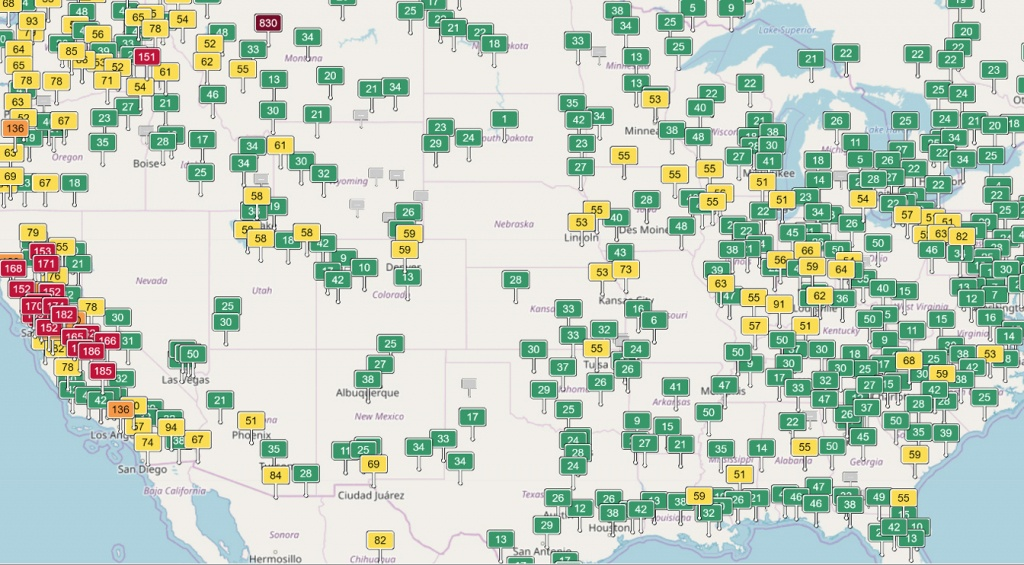 How Air Quality And The Aqi Are Measured - Extremetech - Aqi Map California