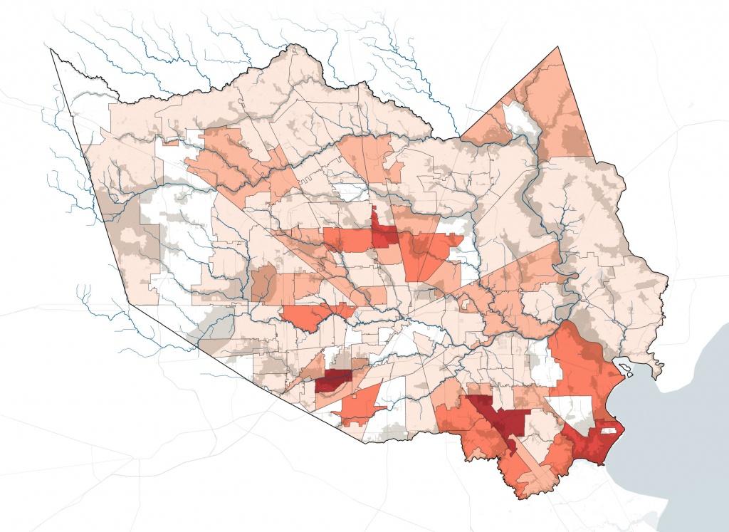 How Harvey Hurt Houston, In 10 Maps | Propublica - Houston Texas Floodplain Map