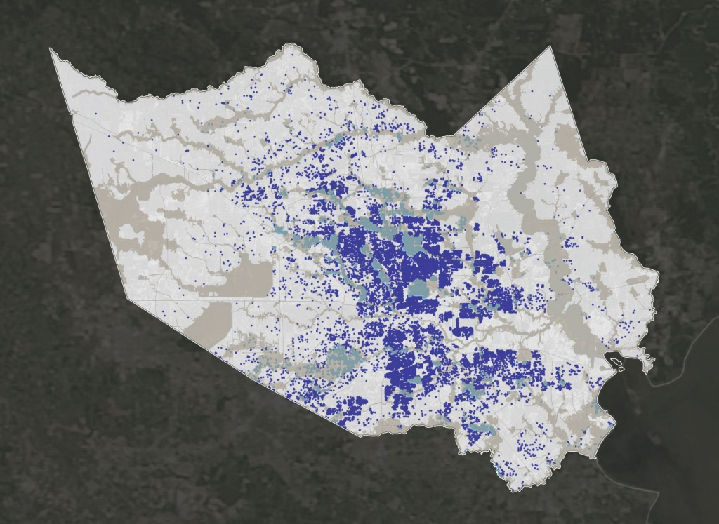 How Harvey Hurt Houston, In 10 Maps | Propublica - Map Of Flooded Areas In Houston Texas