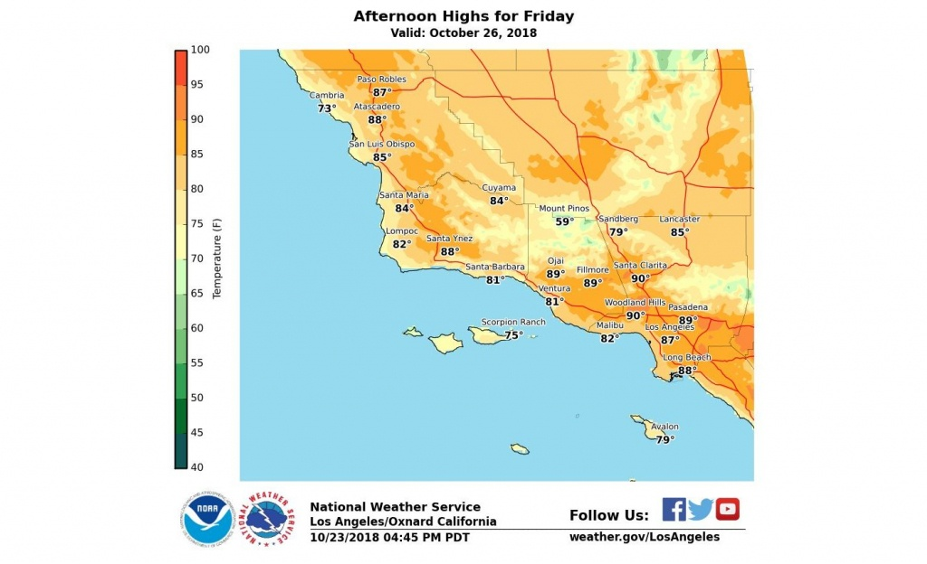 How Long Will The Heat Last In Southern California? – Orange County - Southern California Heat Map