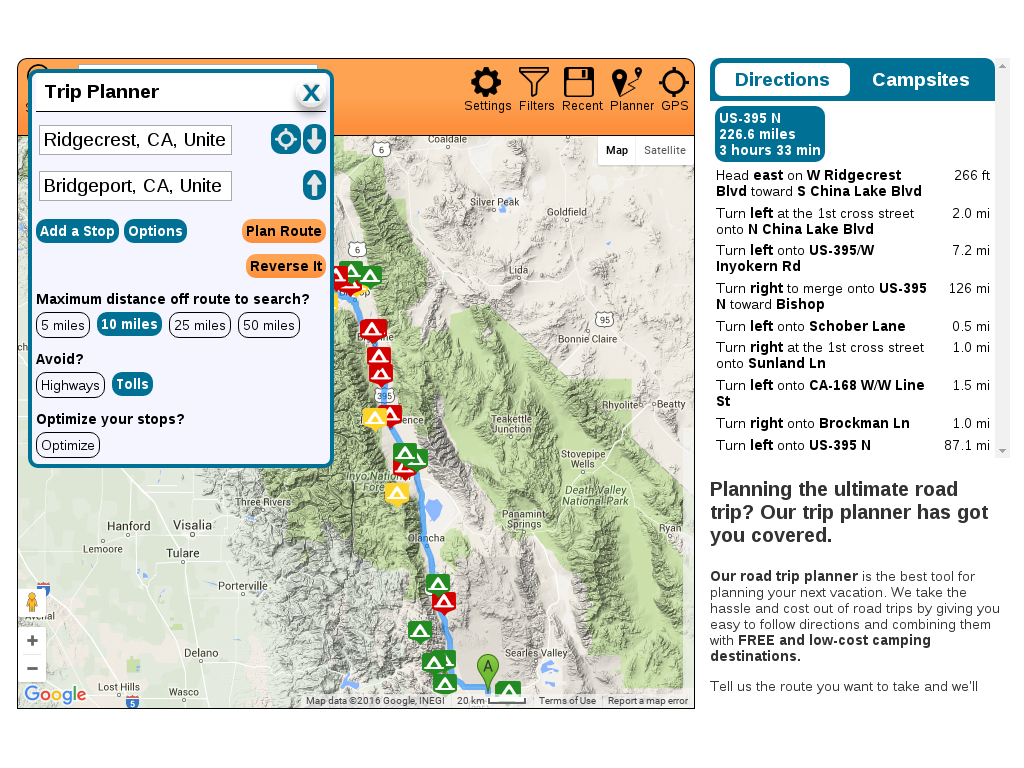 How To Find Free Camping - Freecampsites - Free Camping California Map