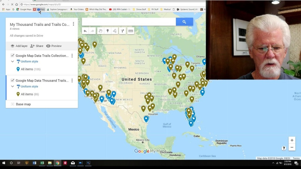 How To Import Thousand Trails Campsites Into Google Maps - Youtube - Thousand Trails Florida Map