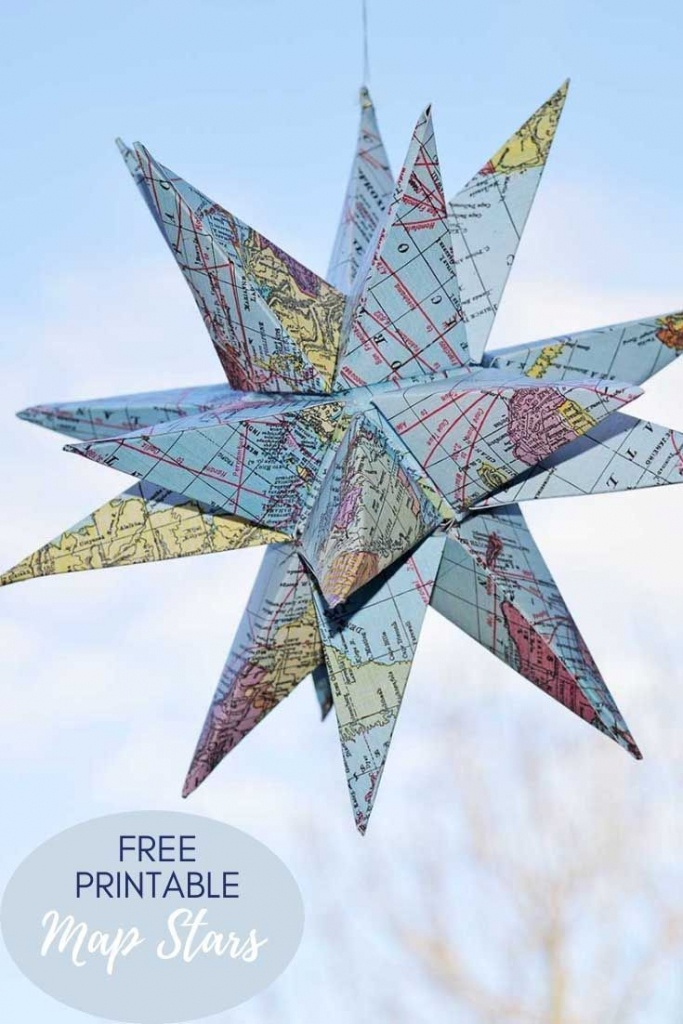 How To Make Gorgeous Free Printable Map Star Decorations | Paper - Free Printable Star Maps