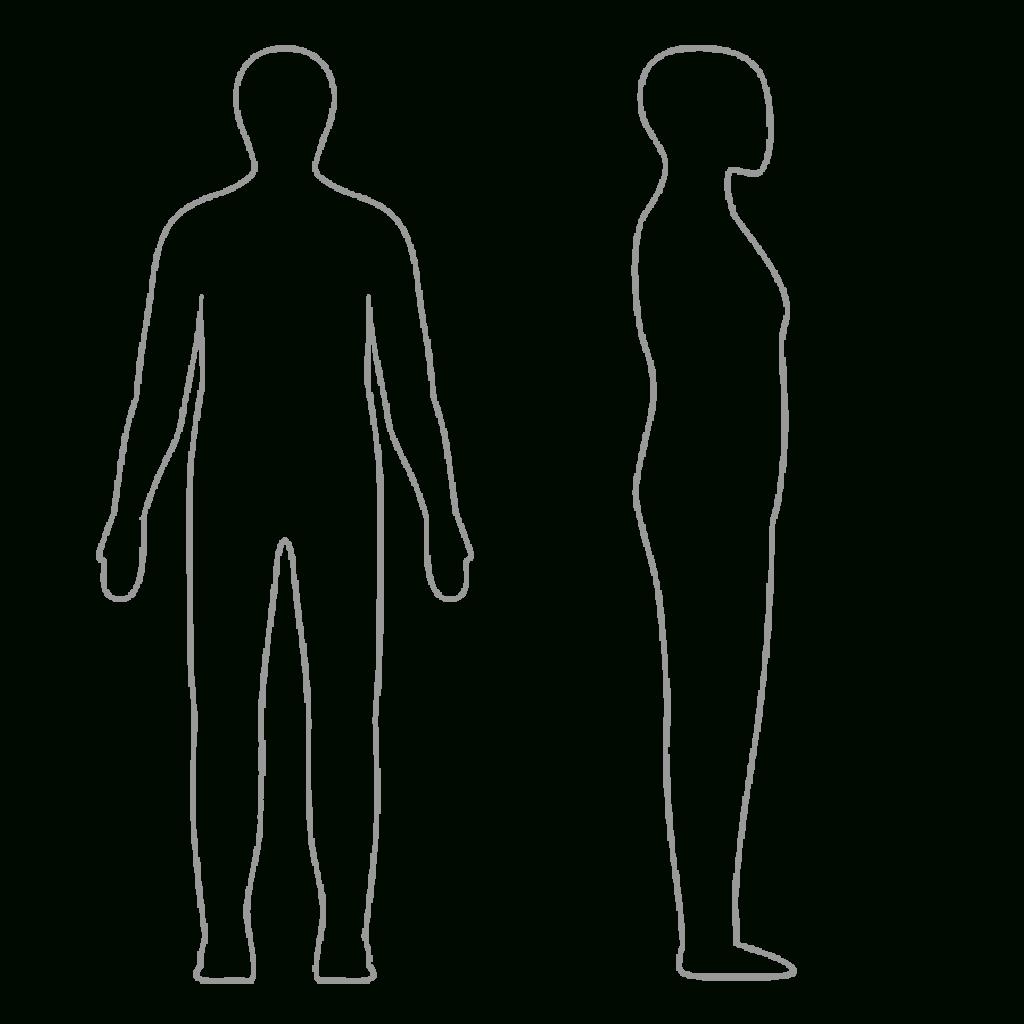 Human Body Outline Printable - Clip Art Library - Printable Body Maps