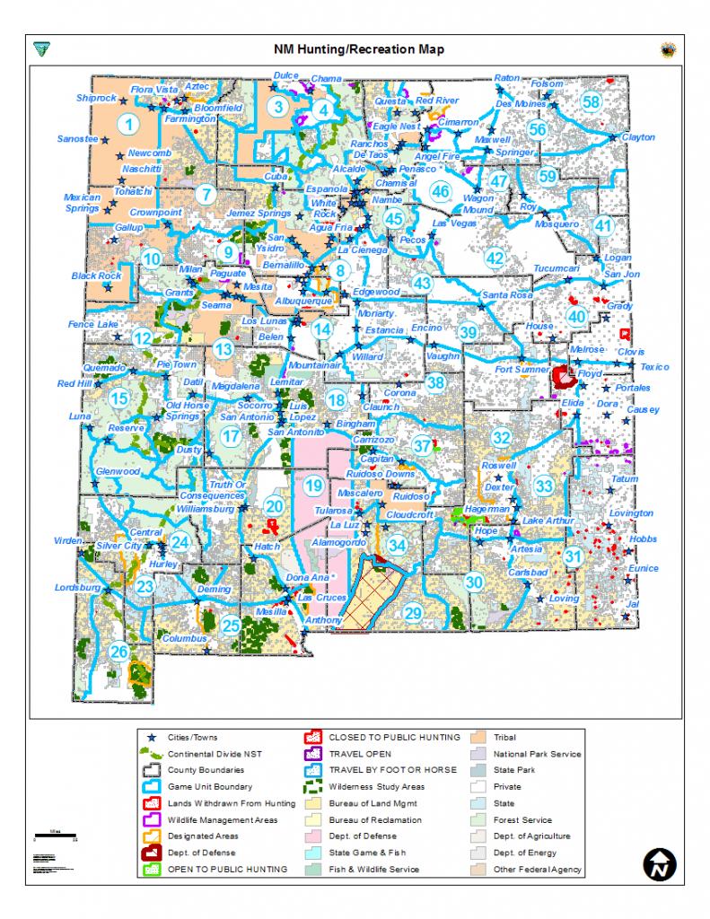 Hunting Unit Maps | Bureau Of Land Management - Printable Red Deer Map