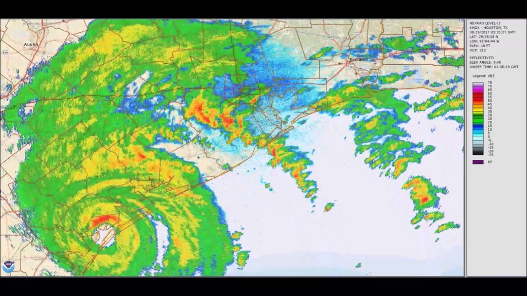 Hurricane Harvey 5-Day Weather-Radar Loop - Texas Satellite Weather Map