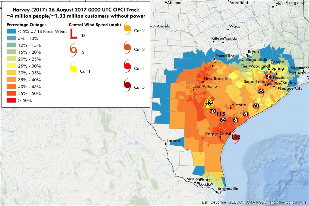 Hurricane Harvey Power Outages  Vehicle To Grid Uk - Entergy Texas Outage Map