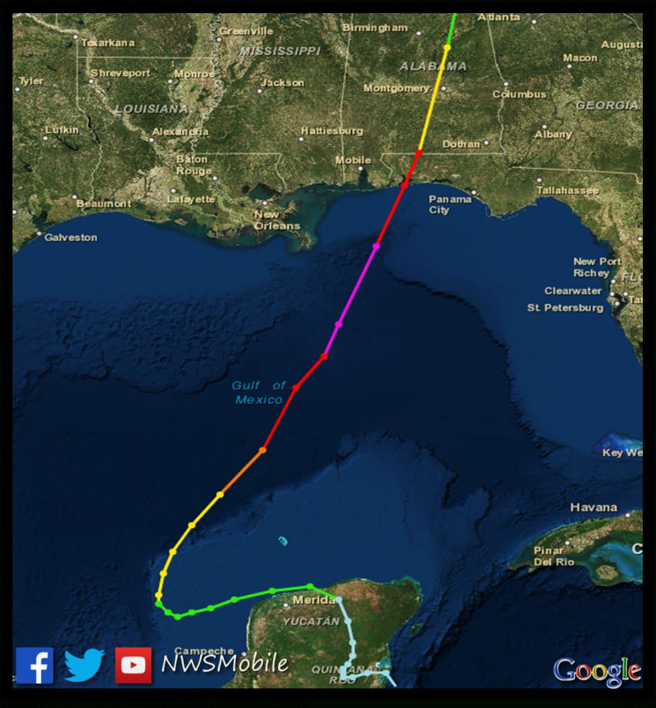 Hurricane Opal - October 4, 1995 - Printable Hurricane Tracking Map 2016