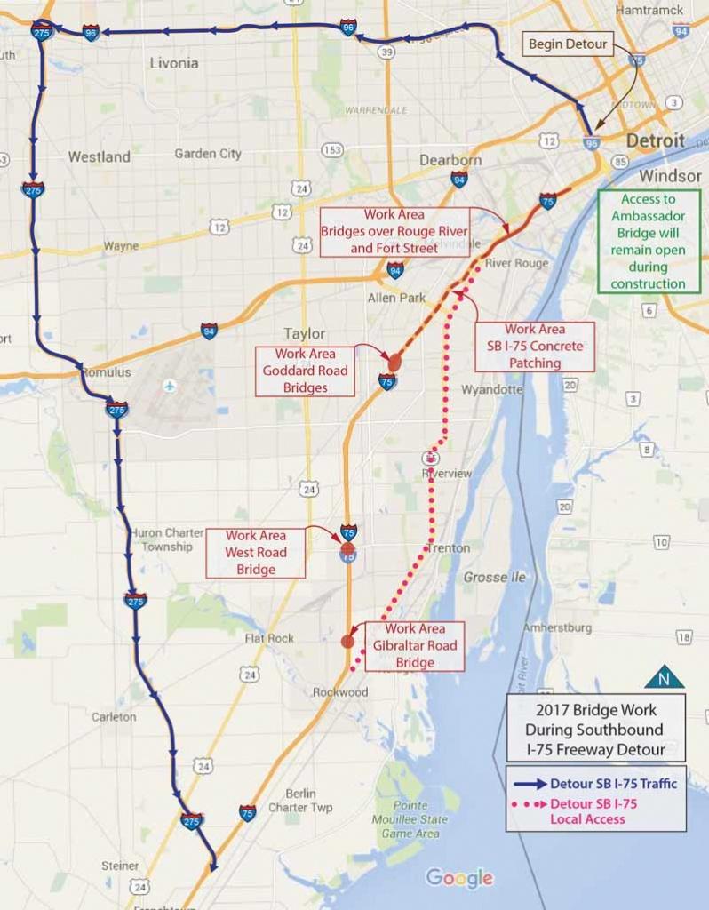 I 75 Construction Florida Map | Autobedrijfmaatje - Map From Michigan To Florida
