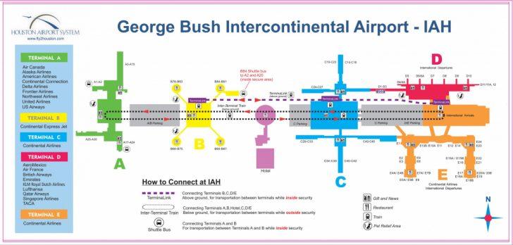 Houston Texas Map Airports