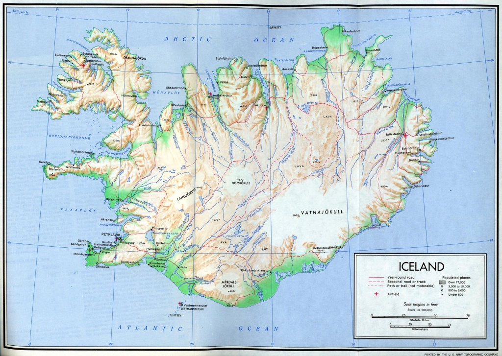 Iceland Maps - Perry-Castañeda Map Collection - Ut Library Online - Free Printable Map Of Iceland