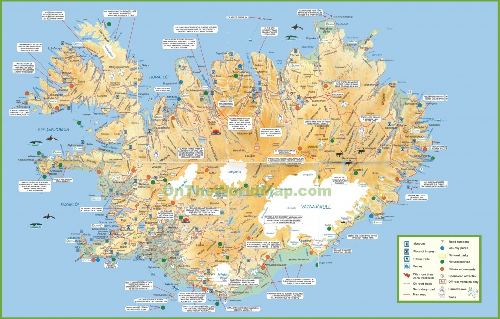 Iceland Tourist Map - Maps Of Iceland Printable Maps