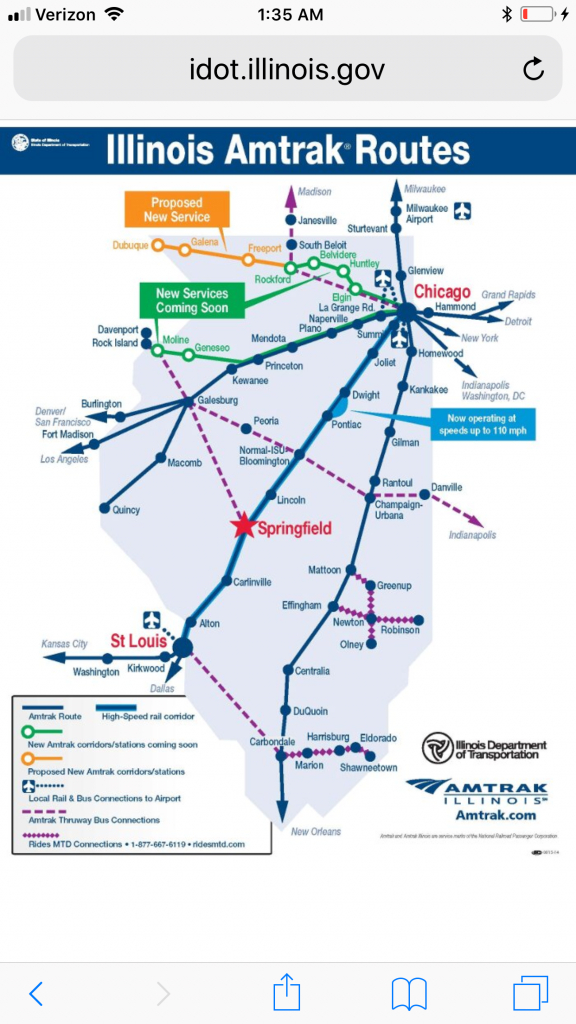 Illinois Amtrak Routes. Need To Use This When Flying Into - Amtrak Texas Eagle Route Map