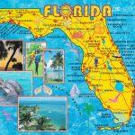 Illustrated Tourist Map Of Florida   Map Of Florida