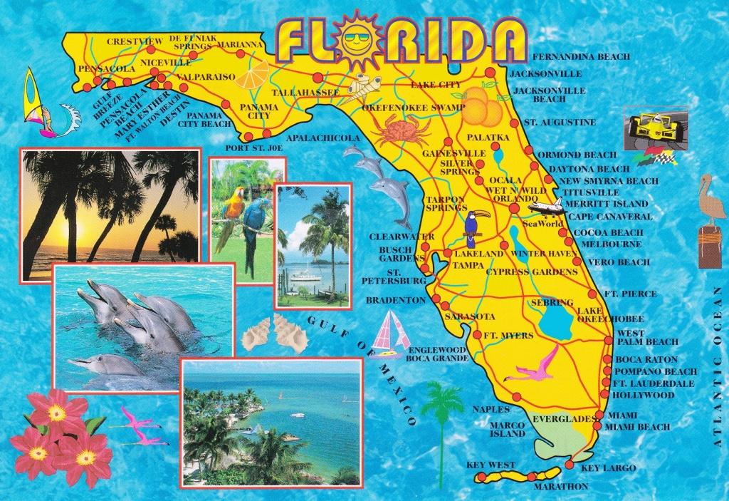 Illustrated Tourist Map Of Florida - Map Of Florida