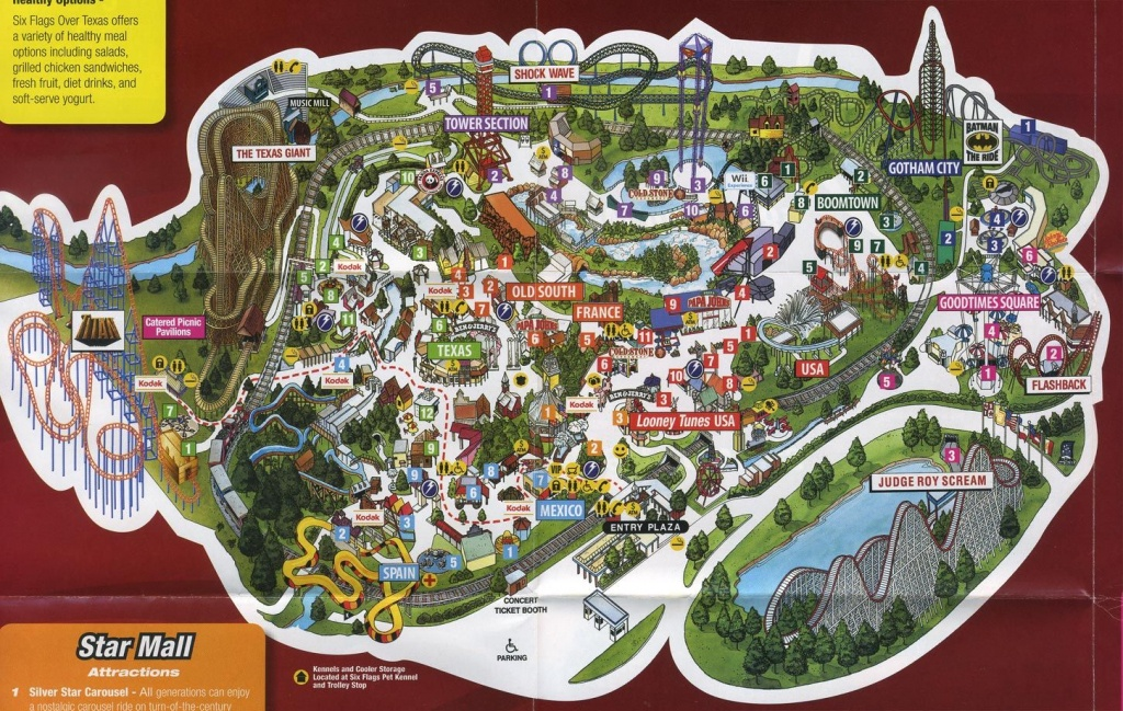 Image Result For Six Flags Texas Map   Park Map Designs   Texas - Six Flags Over Texas Map