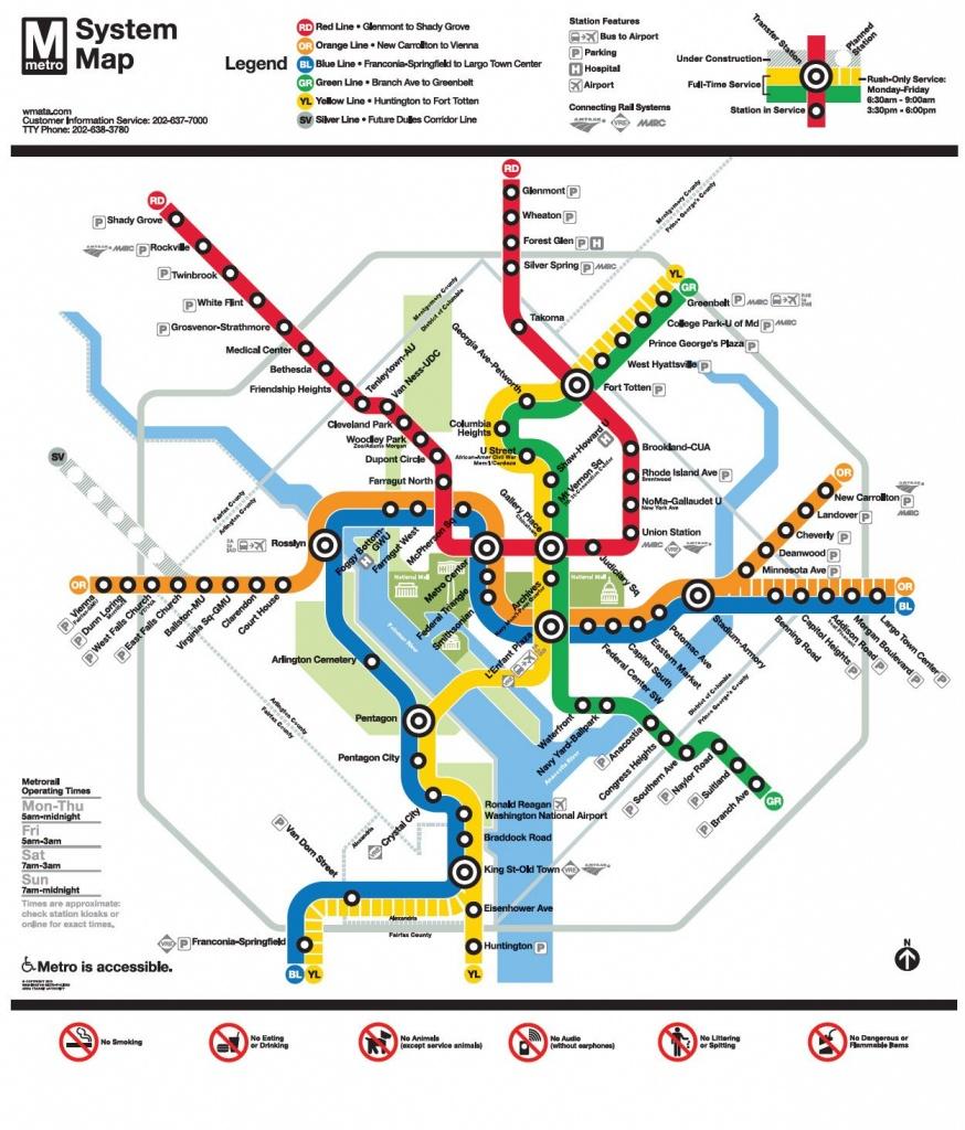 Image Result For Wmata Map   Ui Feature - Nidc【2019】   Washington - Printable Washington Dc Metro Map