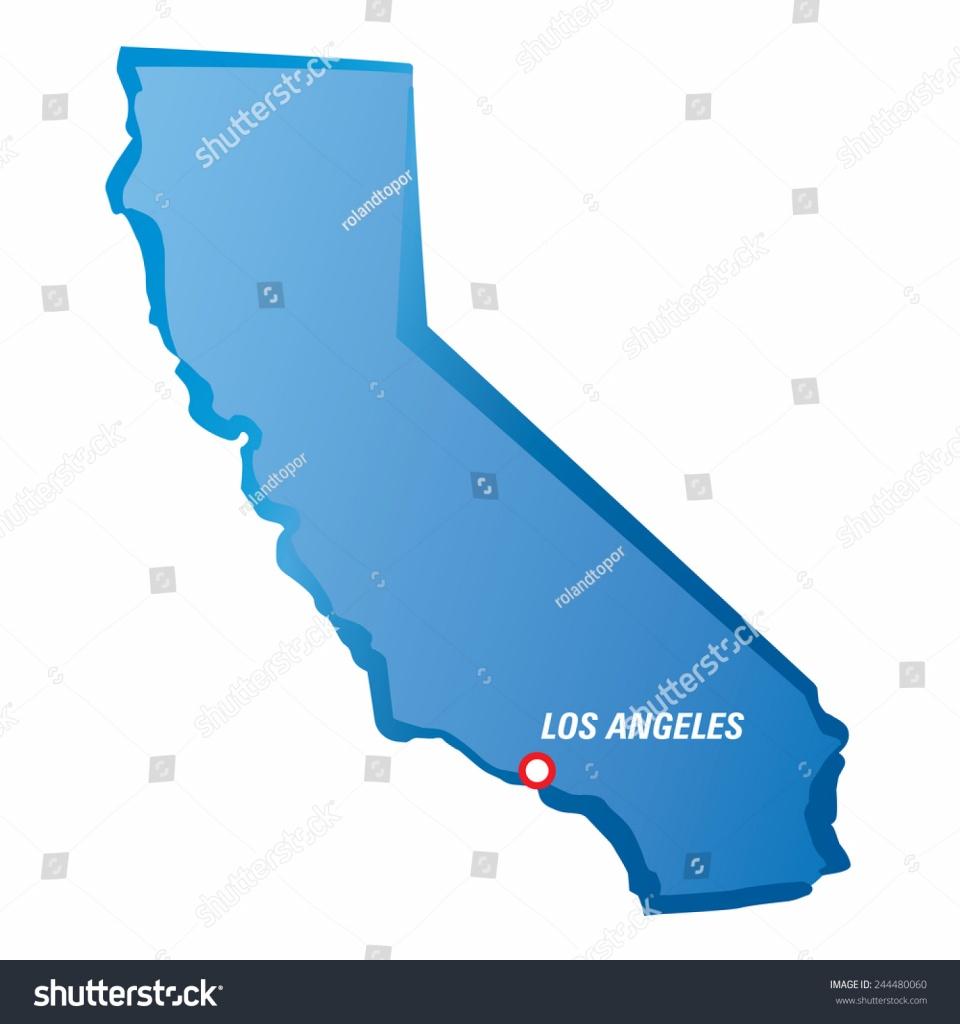 Image Vectorielle De Stock De Vector Drawing Map California Los - Los Angeles California Map