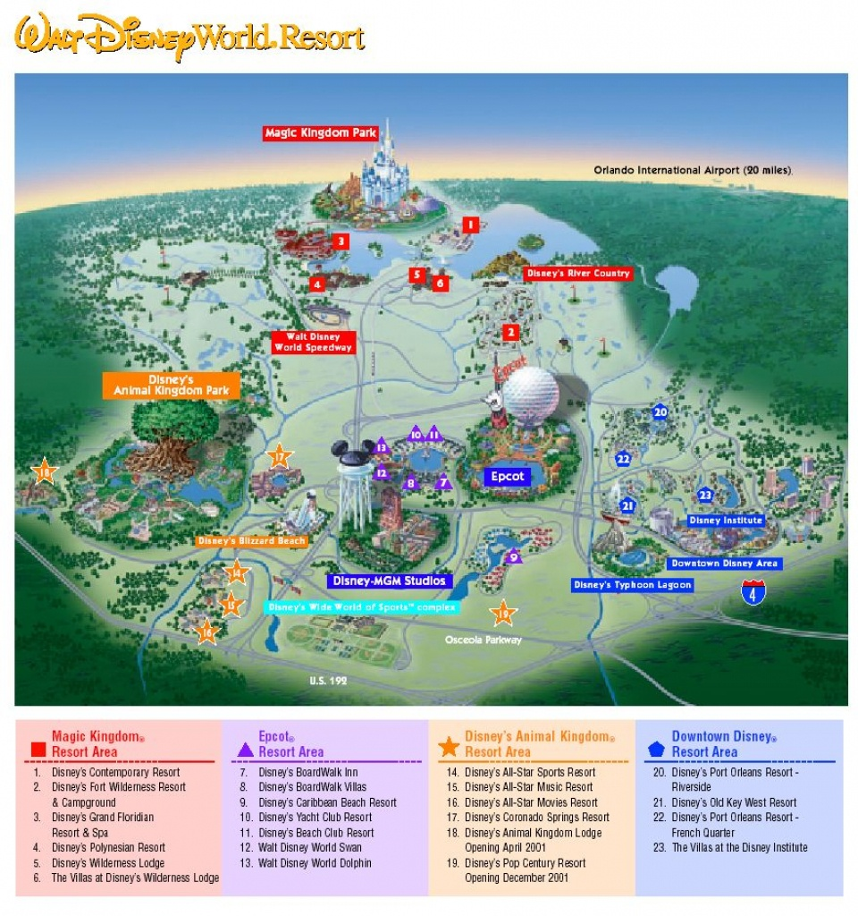 Images Of Disneyworld Map | Map Of Disney World Parks | A Traveling - Disney Florida Map